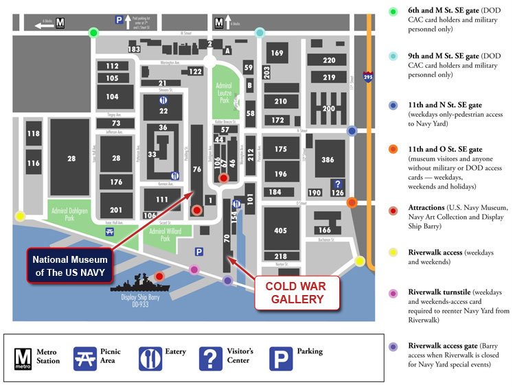 Us Navy Yard Dc Map U.S. Navy Museum | Cold War Gallery | Plan Your Visit
